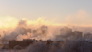 The city of Saskatoon was placed under an extreme cold warning Jan. 25, 2021. (Chad Hills/CTV News)