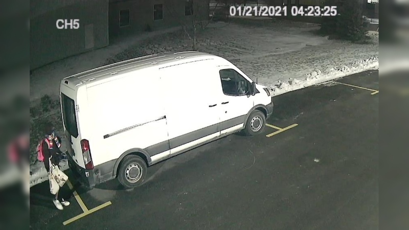 Police shared this photo as part of an investigation into a theft from a work van. (@WRPSToday / Twitter)