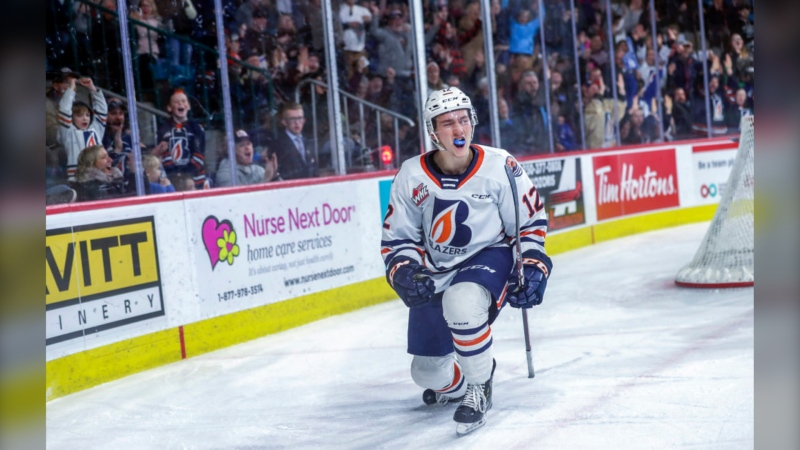 Kyrell Sopotyk is shown in a photo provided by the Kamloops Blazers.