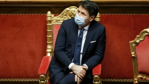Conte survived a parliamentary vote of confidence last week but failed to secure a majority in the Senate. (AFP)