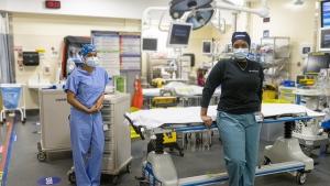 ER nurses on Jan. 23, 2020. (Sunnybrook Hospital)
