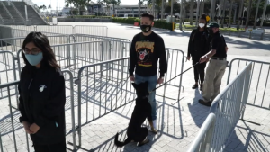With the help of coronavirus-sniffing dogs, fans will be returning to the arena to watch Miami Heat home games.