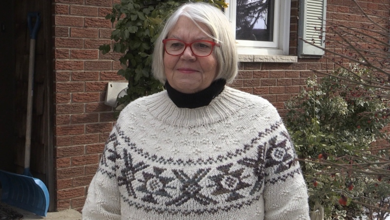 Former London Ont. city councillor Cheryl Miller seen here on Jan. 25, 2021. (Bryan Bicknell/CTV London)