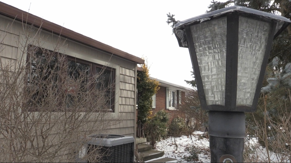 Former London Ont. city councillor Cheryl Miller's home seen here on Jan. 25, 2021. (Bryan Bicknell/CTV London)