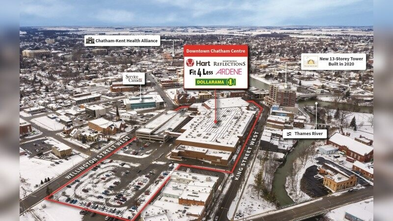 Real estate company lists shopping centre in Chatham-Kent, Ont for sale. (source Jones Lang LaSalle Incorporated)