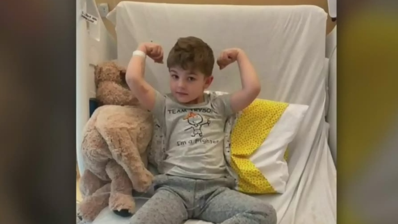 A four-year-old boy from Nova Scotia who is battling leukemia has received an outpouring of support from people all over North America and his parents want to thank the thousands who have helped their son from a distance.
