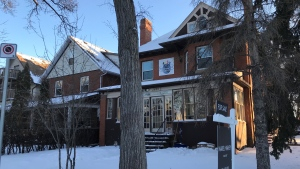 The location of Regina's Street Culture Project on Victoria Avenue is up for sale. The property was listed by Royal LePage, and the asking price is $459,000. (Cally Stephanow / CTV News Regina)