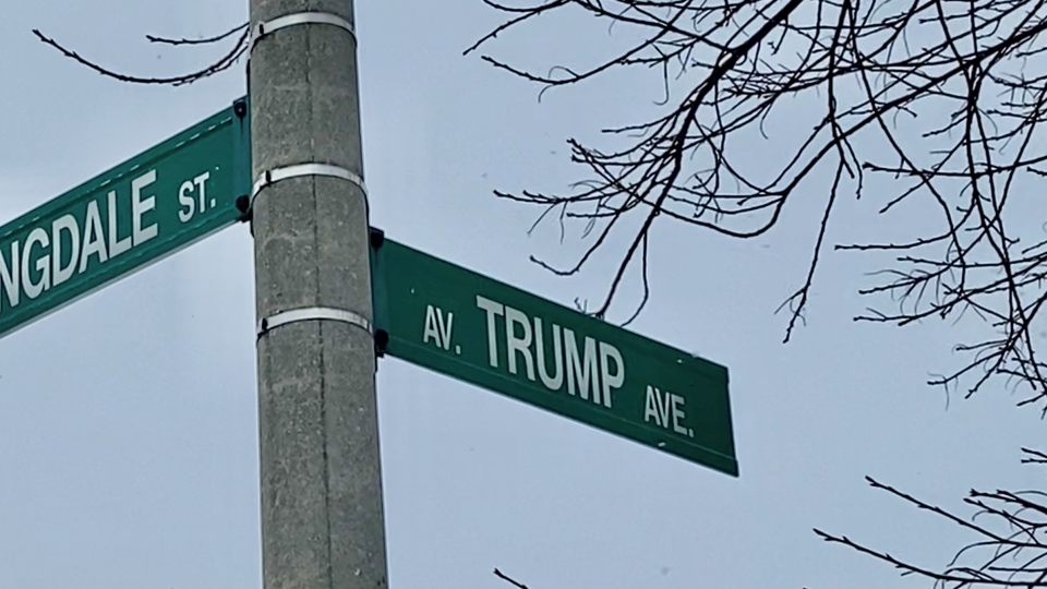 Trump Avenue in Ottawa