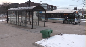 LTC bus on Jan 25, 2021. (Daryl Newcombe/CTV London)