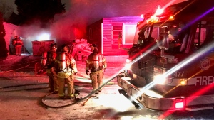No one was injured after fire broke out in a mobile home on Jan. 25. (Sean Amato/CTV News Edmonton)