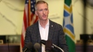In this Aug. 30, 2020 file photo Portland Mayor Ted Wheeler speaks during a news conference. (Sean Meagher/The Oregonian via AP, file)