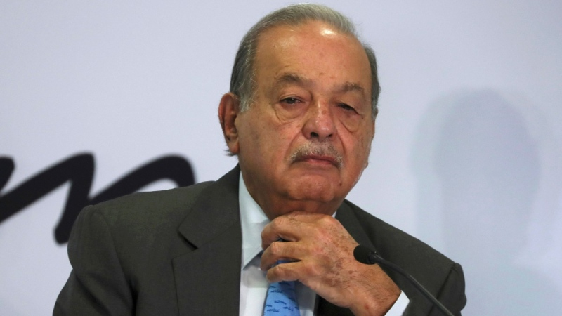 Mexican billionaire Carlos Slim at his office in Mexico City, on Oct. 16, 2019. (Fernando Llano / AP)