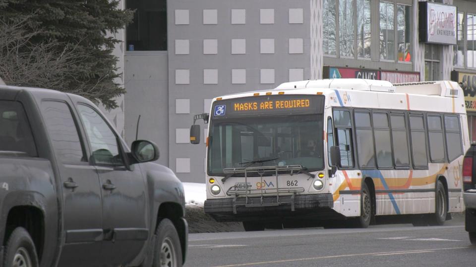 GOVA transit bus in Sudbury, mask requirement