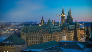 Blue hour in Ottawa. (Franklin McKay/CTV Viewer)