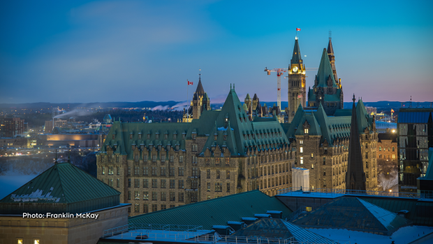 Blue hour in Ottawa. (Franklin McKay/CTV Viewer)