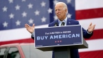 Joe Biden at a campaign event in Warren, Mich., on Sept. 9, 2020. (Patrick Semansky / AP)
