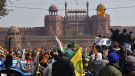 Thousands of farmers stormed the Red Fort in New Delhi to demand the withdrawal of new laws which they say will impact their earnings.