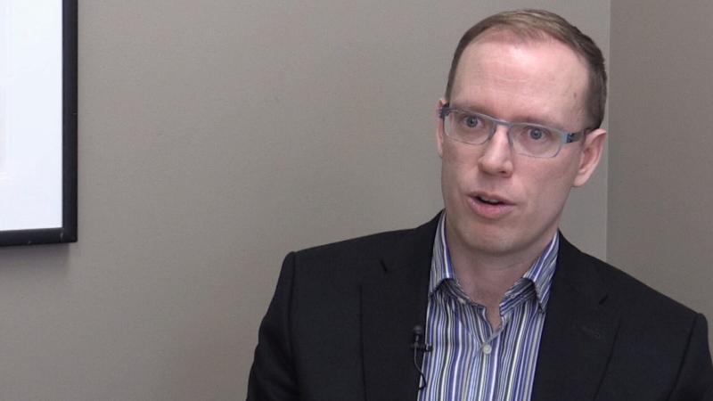 Innisfil CAO Jason Reynar during an interview in December 2019 (Craig Momney/CTV News)