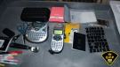 Ontario Provincial Police say they seized items used to create forged documents after stopping a vehicle on Highway 401 on Jan. 23, 2021. (Photo distributed by the OPP)