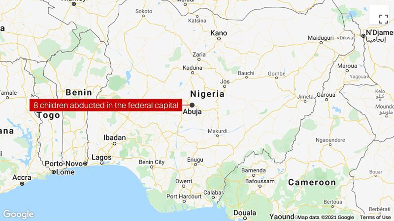 Gunmen abduct 8 children from a Nigerian orphanage in Abuja. (Google/CNN)