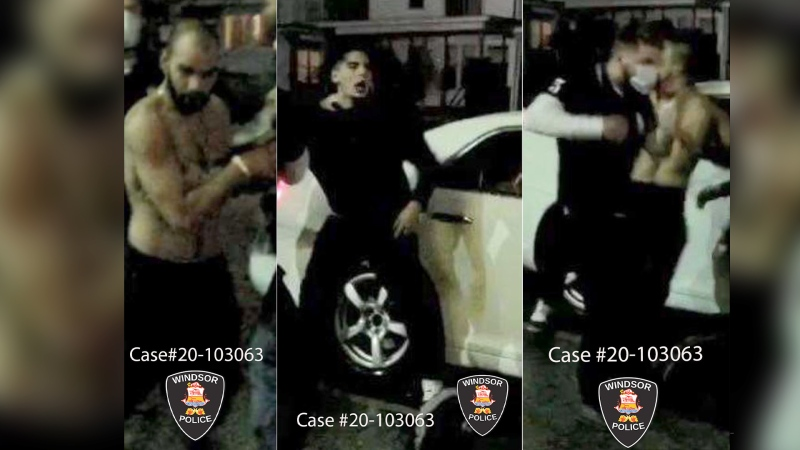 Windsor police are seeking information leading to the identification of these suspects in relation to an assault investigation. (courtesy Windsor Police Service)