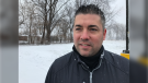 Kris Cooper launched the  #100frozenkmchallenge to help raise funds for families in LaSalle Ont., on Tuesday, Jan. 26 2020. (Michelle Maluske/CTV Windsor)