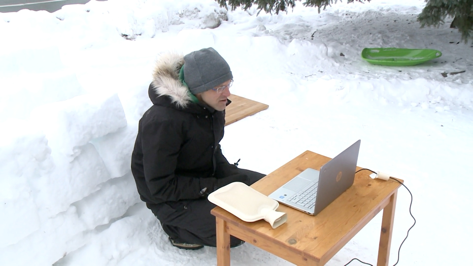Patrick Revie snow fort classroom
