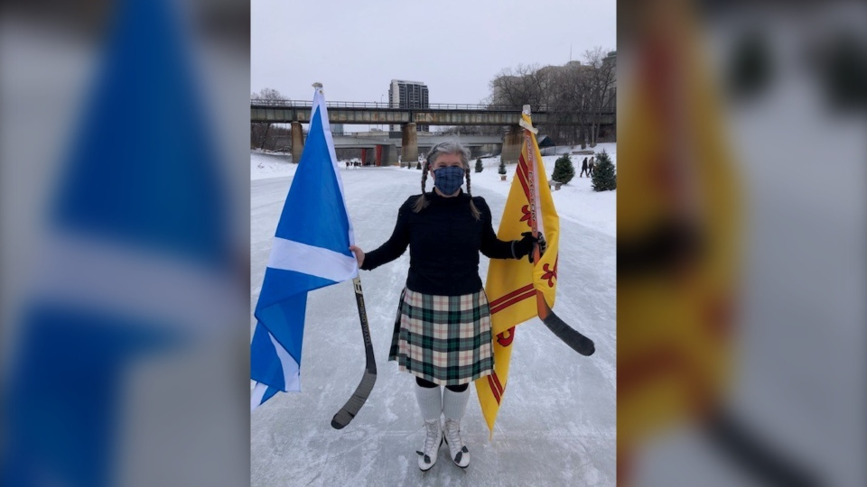 The St. Andrews Society is hoping to make Winnipeg the Kilt Skate Capital of Canada (Image source: Cathy Laver-Wright)