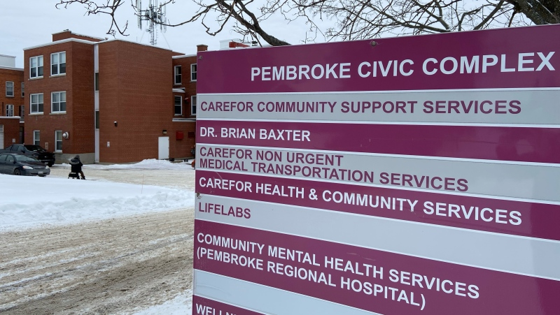 The Pembroke, Ont. clinic of Dr. Brian Baxter. Baxter is facing a disciplinary hearing after being accused of sexual abuse involving two patients. (Dylan Dyson / CTV News Ottawa)