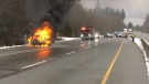 Firefighters say no one was injured in the car fire: (CTV News)
