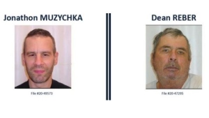 Victoria police are searching for these two men who failed to check in while on parole. Anyone who spots them is asked to call 911: (Victoria Police)