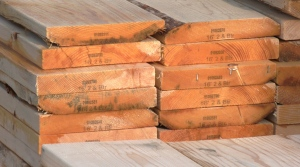 Lumber in the yard at Lumber World in Saanich on Jan. 26, 2021. (CTV News)