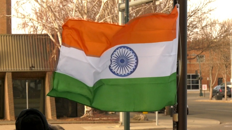 Members of the India Canada Cultural Association of Lethbridge raised their nation's tri-colour flag at city hall on Tuesday in celebration of India's Republic Day.