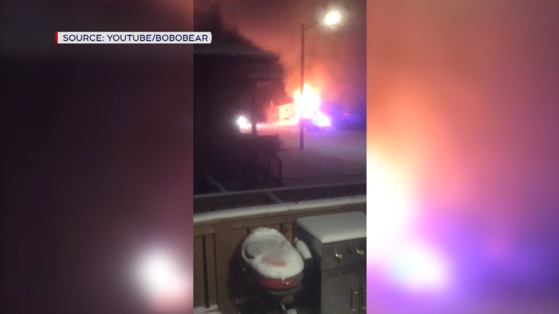 Two people are believed to have been unable to escape a duplex fire. (Tuesday Jan. 26, 2021 (BoboBear/YouTube)