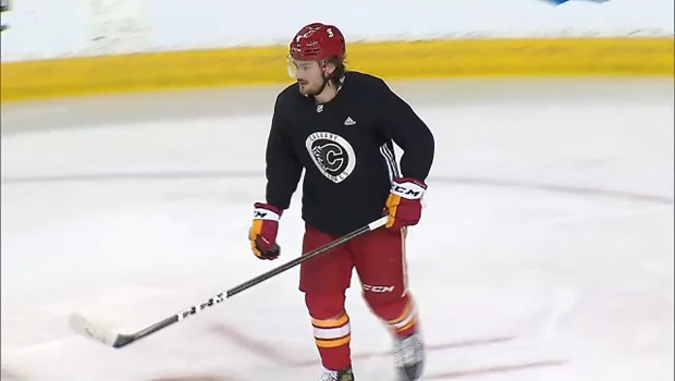 Flames defenceman Rasmus Andersson is one of the team's bright spots on the blue line early in the 2021 season