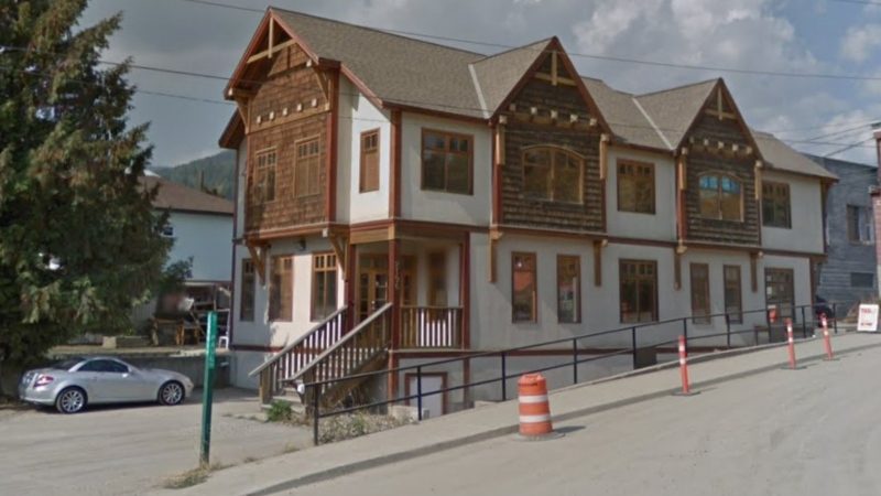Rossland city hall is seen in an undated Google Maps image.