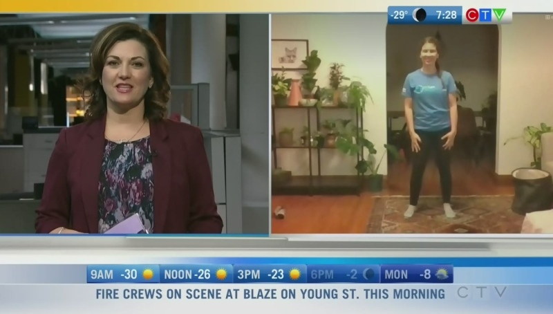 'Fit Kids Healthy Kids' is an online Safe at Home Manitoba program to keep your children active in your home. Rachel Lagacé reports