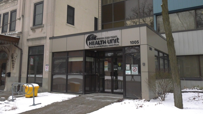 The Windsor-Essex County Health Unit in Windsor, Ont.,on Monday, Jan. 25, 2021. (Chris Campbell / CTV Windsor)