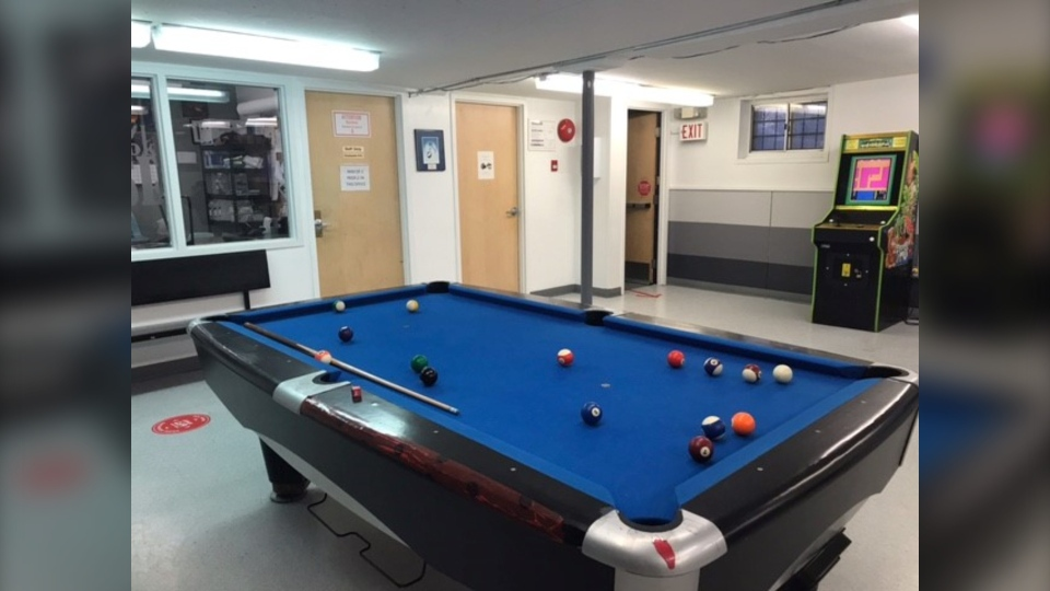 The pool table at Rossbrook House (CTV News Photo Rachel CrowSpreadingWings)