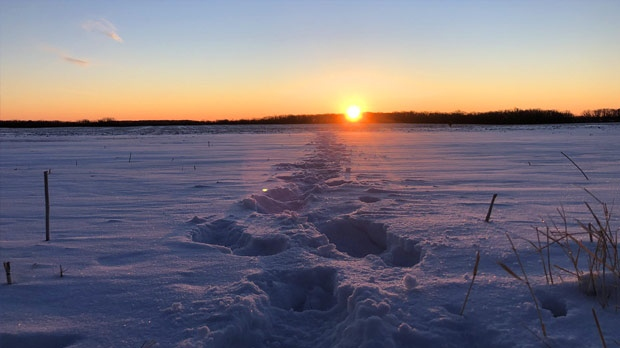Can't beat a chilly Manitoba sunrise in January. Photo by Dean Richards.