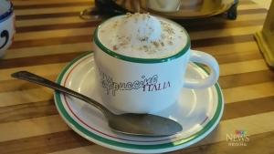 Mushroom cappuccino soup