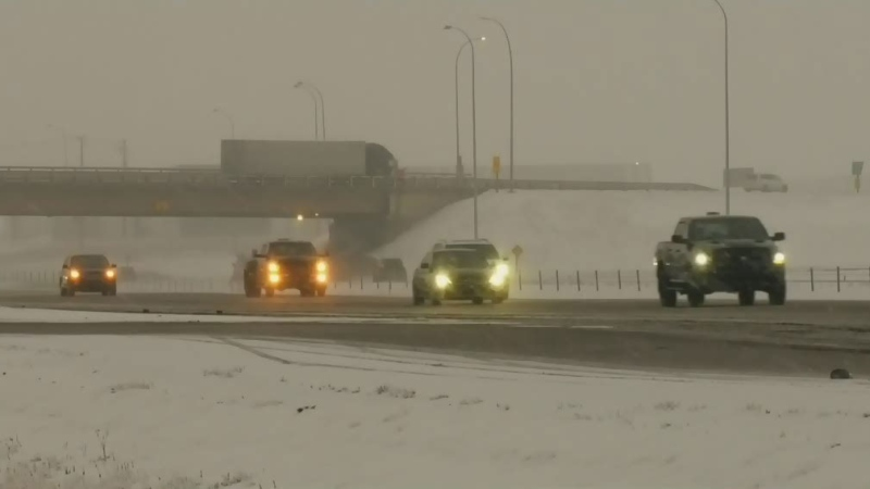 Winter weather causes Deerfoot delays