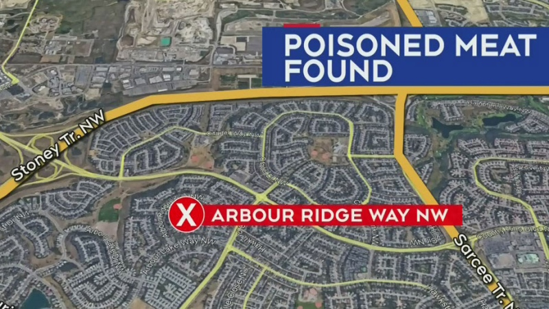 Tainted meat found at NW home