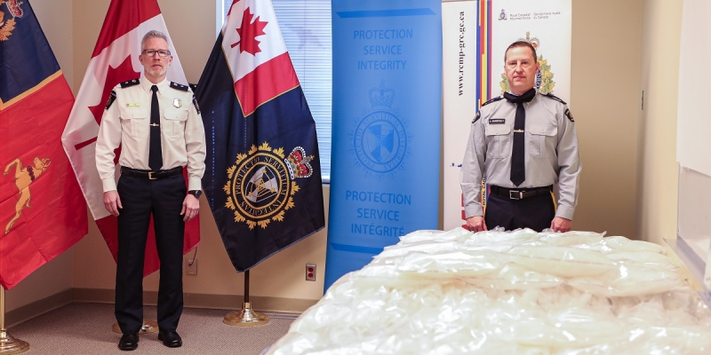 A record breaking 228 kg of methamphetamine was seized at the Coutts, Alta. border crossing late December. (Courtesy: RCMP)