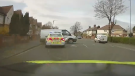 Footage of a high-speed chase was released by the police in Doncaster, U.K., which ended when a police forced the van from the road.