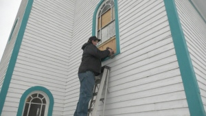 Kevin Klemenz is CTV News Regina's Hometown Hero due to his work preserving Horizon's church and grain elevator. (Colton Wiens/CTV News)
