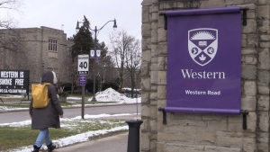 Western University in London, Ont. on Jan. 27, 2021. (Gerry Dewan/CTV London)