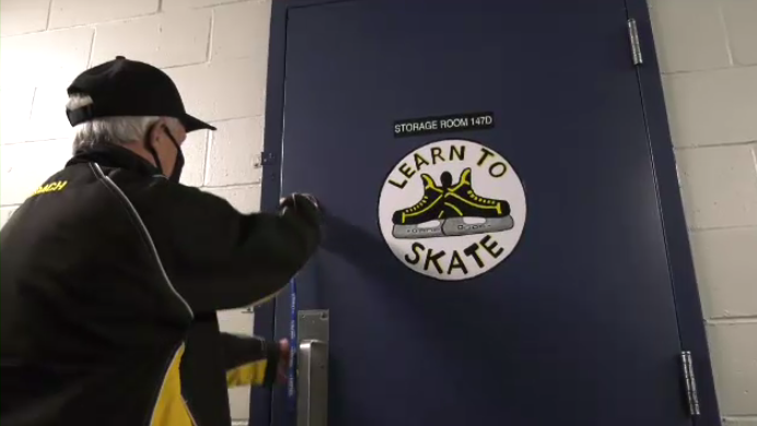 Over $40,000 worth of sports gear was donated to Nick Bonnar's program called Learn to Skate- a non-profit that helps Cape Breton children learn how to skate for free.