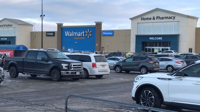 Walmart on Hyde Park Road in London, Ont. on Jan. 27, 2021. (Sean Irvine/CTV London)