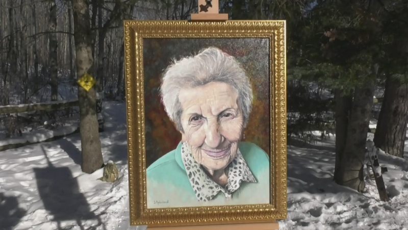 Capreol painter honours Holocaust survivor